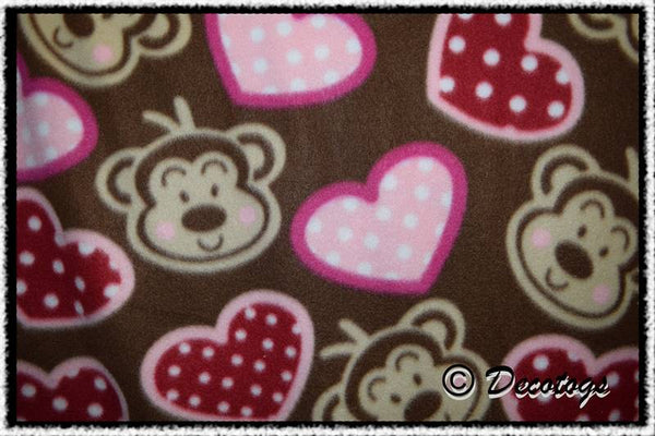 POLKA DOT HEART MONKEY HEADS