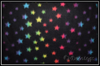 RAINBOW STARS ON BLACK