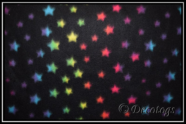 RAINBOW STARS ON BLACK (Blizzard)