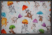 RAINING CATS AND DOGS WHITE