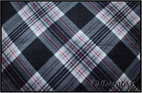 SEAN BLACK GRAY RED PLAID (Plush)