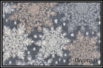 GRAY & BROWN SNOWFLAKE MEDALLION (So Lush)