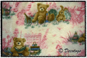 TEDDY BEAR PINK TOILE