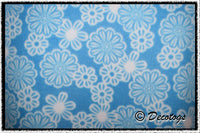 WHITE FLOWERS TURQUOISE (Blizzard)