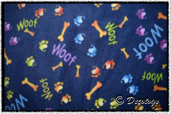 WOOF PAWPRINTS BLUE