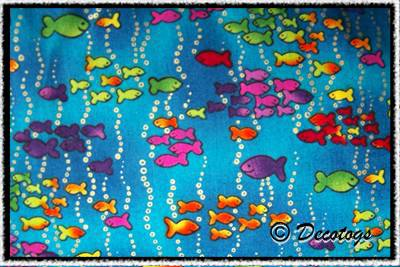 Custom Belly Band - NEON FISH SCHOOLS BLUE