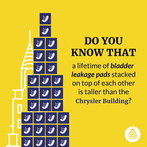 A Lifetime Supply of Pads Is Taller Than The Chrysler Building