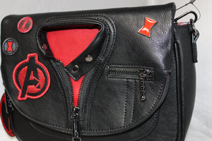 LOUNGEFLY X MARVEL BLACK WIDOW COSPLAY CROSS BODY BAG