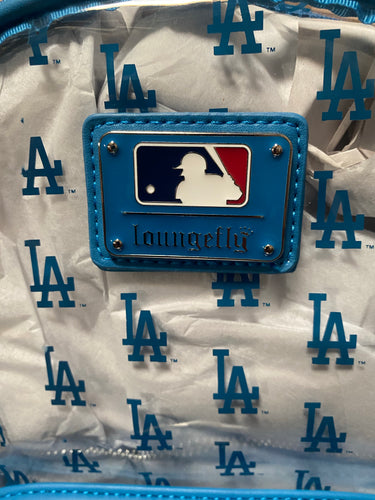 LOUNGEFLY MLB LA DODGERS CLEAR AOP STADIUM BACKPACK