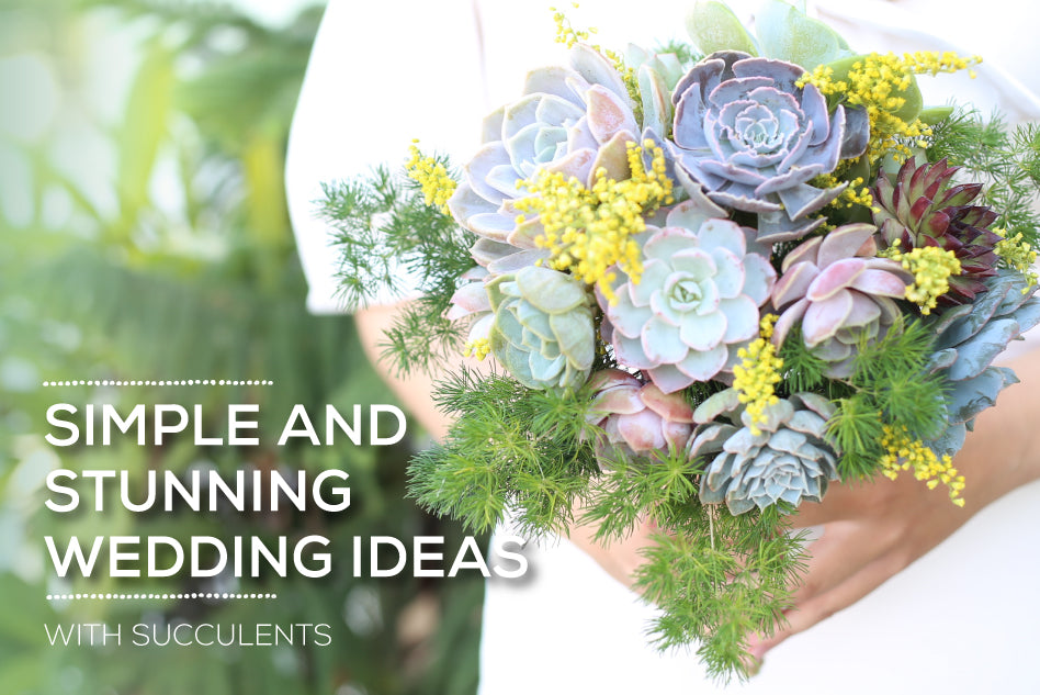Simple and stunning succulent wedding ideas, How to Make a Succulent Wedding Bouquet, DIY Bridal Bouquet with Succulent Plants
