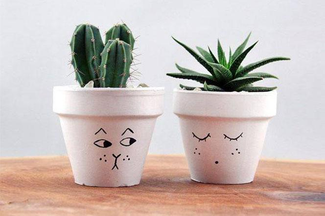 Ideas for DIY Painted Plant Pots