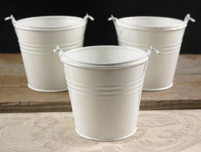 "2.5"" White Tin Pail"