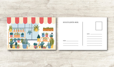 Succulents Greeting Card for sale, Thank you succulents card, Succulents Gift Ideas, Cactus Greeting Card, House plants card, Valentine succulents card, Succulents greeting card for her