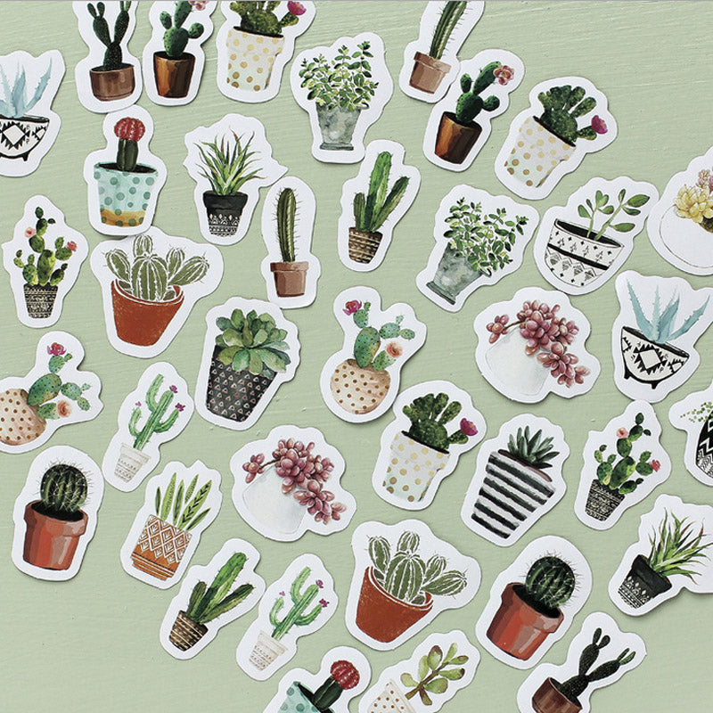 Potted Plant Stickers 45Pcs//Box DIY Stickers Label Sticker Sealing Diary