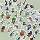 Potted Succulent Stickers Set 45 Pieces for sale, Watercolor Stickers Planner Gift for Friend, Journal Stickers Planner Accessories