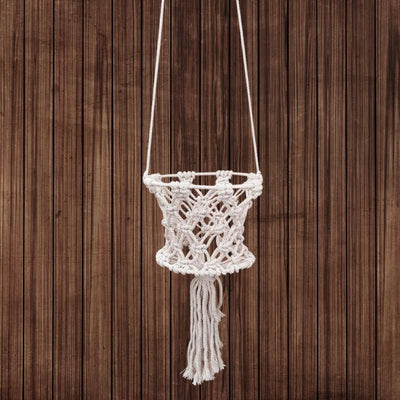 "4"" Basket Macrame for sale"