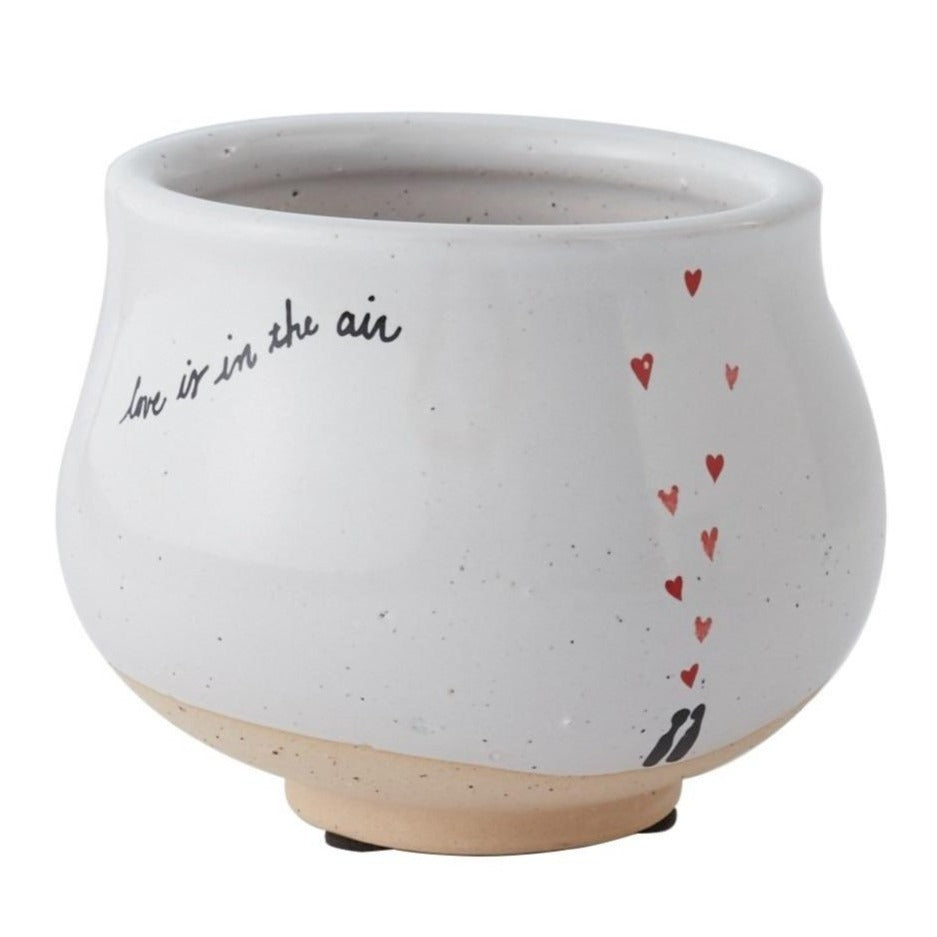 Love Is In The Air Pot for sale, heart pot for Valentines, Ceramic succulent pots for indoor and outdoor, Valentines's day gift ideas, Valentine's day gift for her, succulent pot for sale