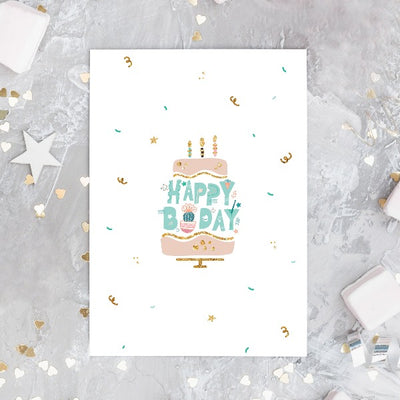 Succulent Happy Birthday Card for sale, Cactus Birthday Greeting Card, Succulents Greeting Card, Succulents Gift Ideas
