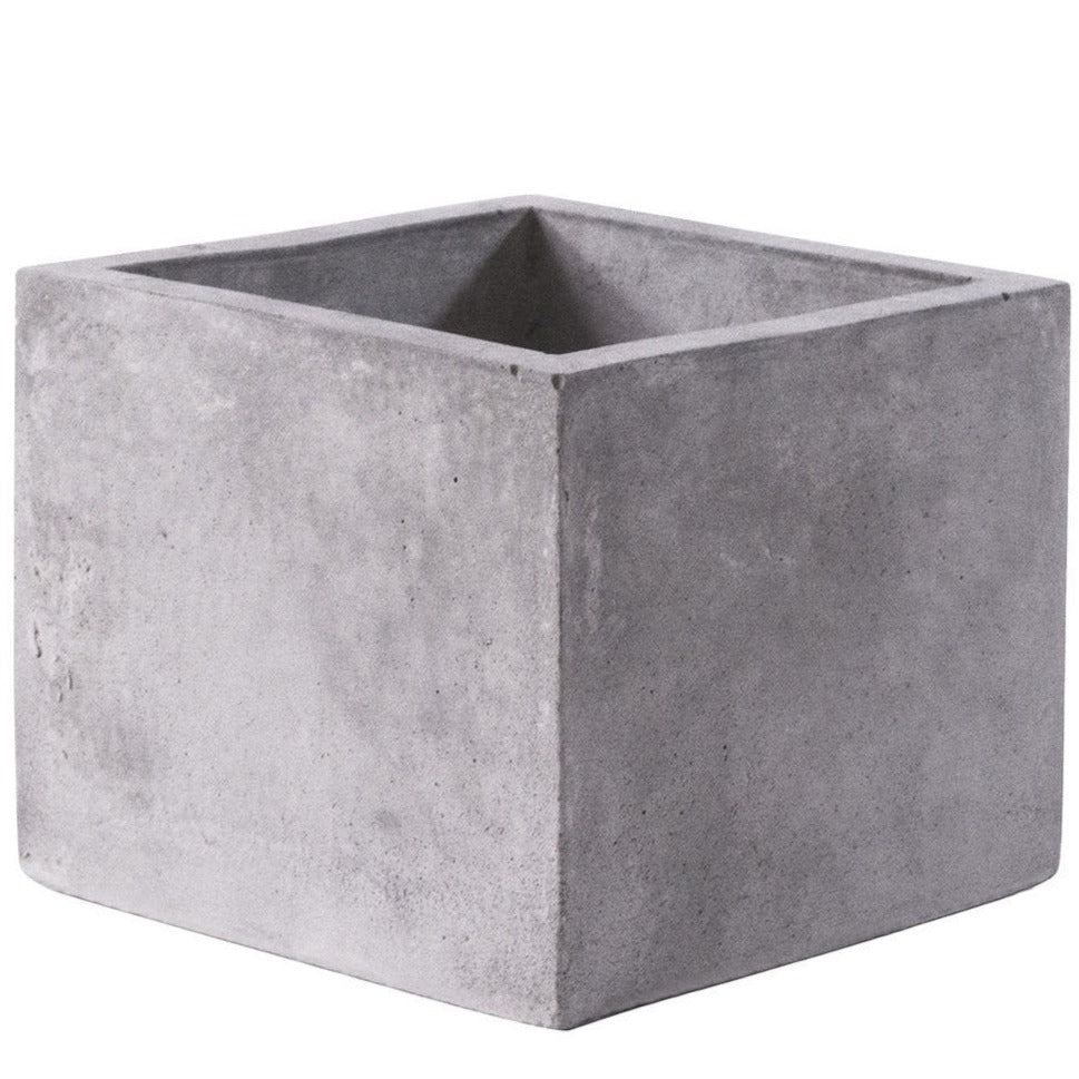 square concrete pot, square planter, concrete pot