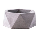 geometrical concrete pot