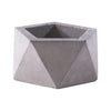 small pentagon concrete pot for sale
