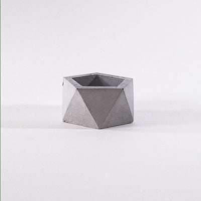 modern geometric style, concrete planter, cement pot, garden decor