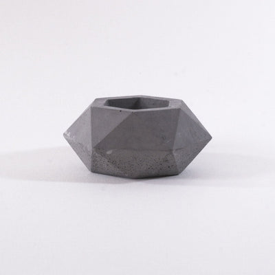 geometric mini planter, concrete planter, geometric diamond pot, cement pot