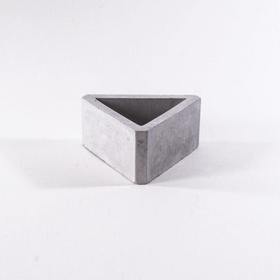 geometric concrete pot, modern planter, geometric planter