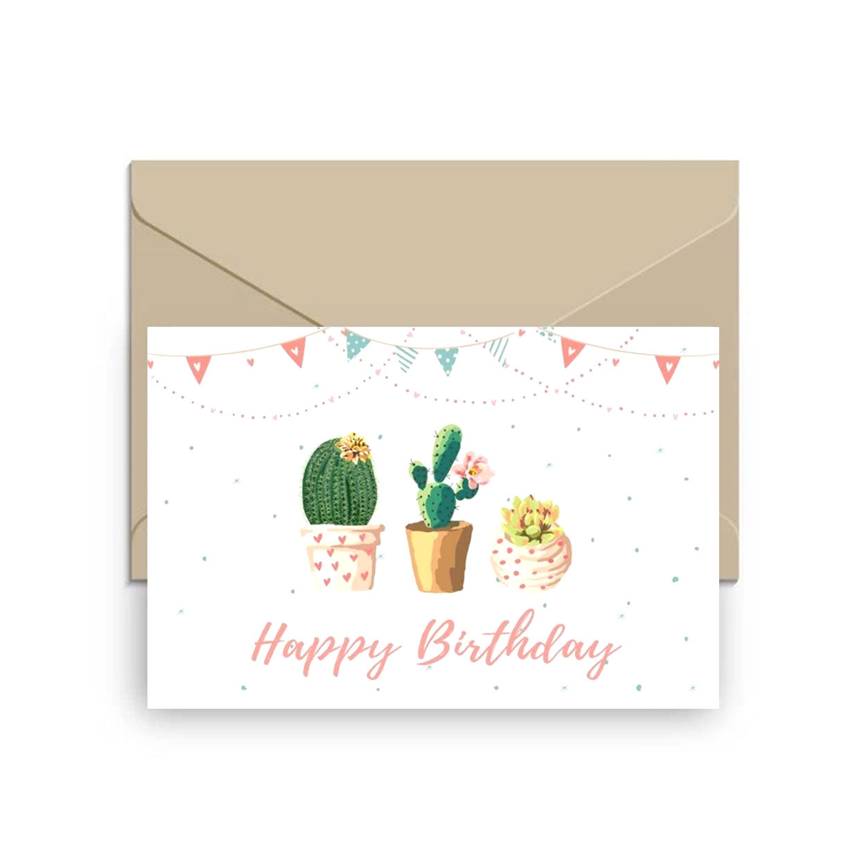 Happy Birthday Cake Card for sale, Succulent Happy Birthday Card for sale, Cactus Birthday Greeting Card, Succulents Greeting Card, Succulents Gift Ideas