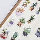 Succulent Sticker Set for sale, Cute Potted Plants Stickers, Planner Decoration Stickers, Planner cactus stickers set, Scrapbook sticker, Journal stickers