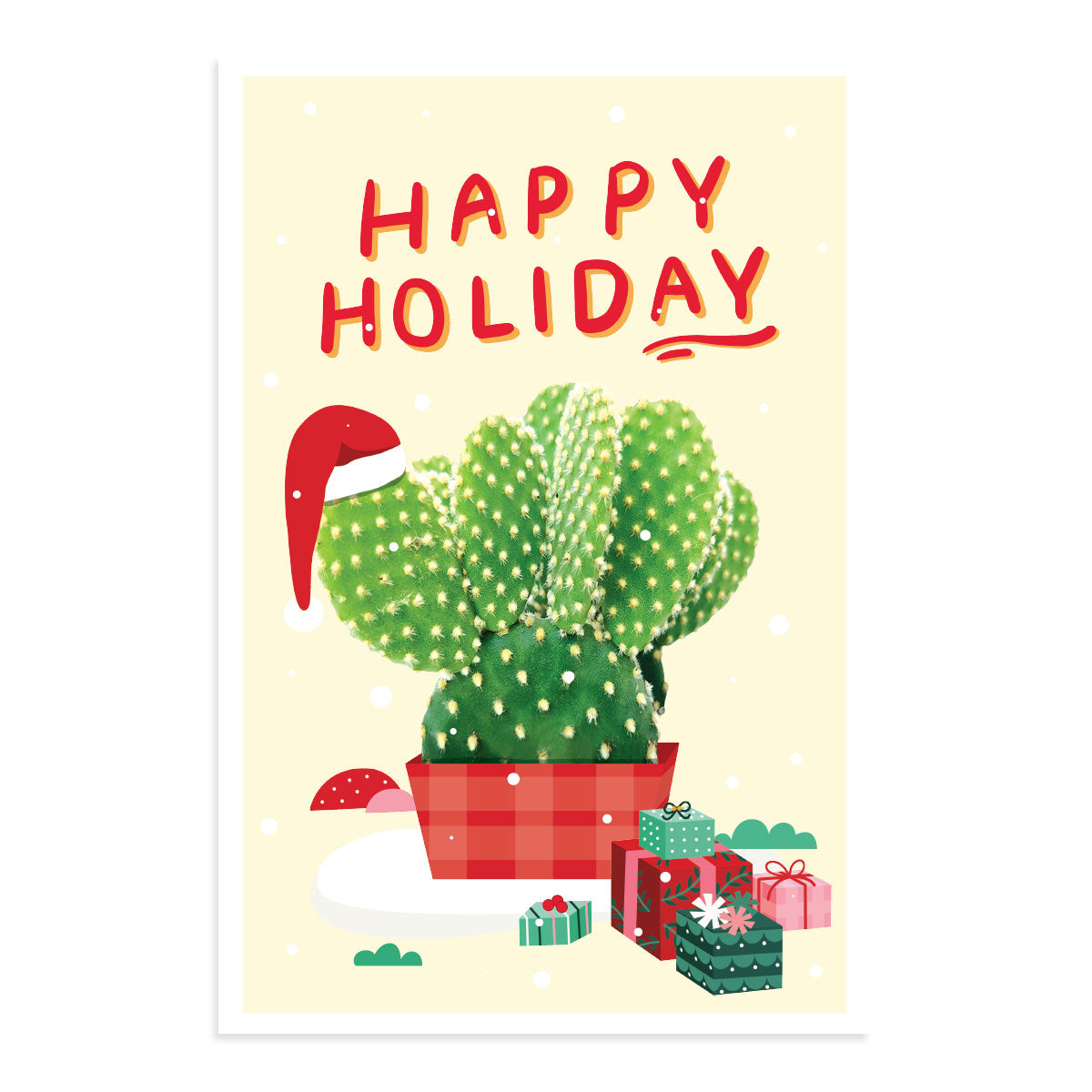 Succulent Happy Holiday Card for sale, Cactus Holiday Greeting Card, Succulents Greeting Card, Succulents Gift Ideas