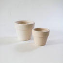 4'' White Clay Pot