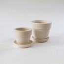 2'' White Clay Pot