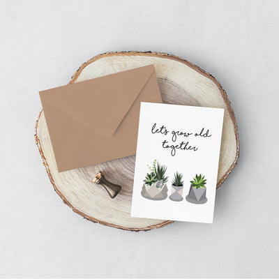 Succulents Card for sale