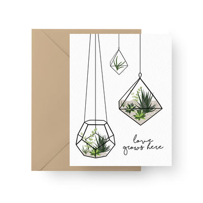 Love Grows Here Card