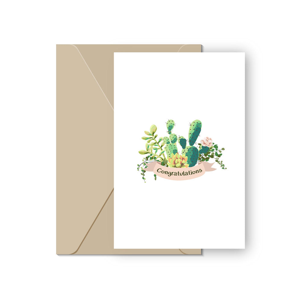 Succulents Congratulations Card for sale, New Home Card, Housewarming Card, Congratulations Card, Congrats Card, Succulents Card, Succulents Gift Ideas