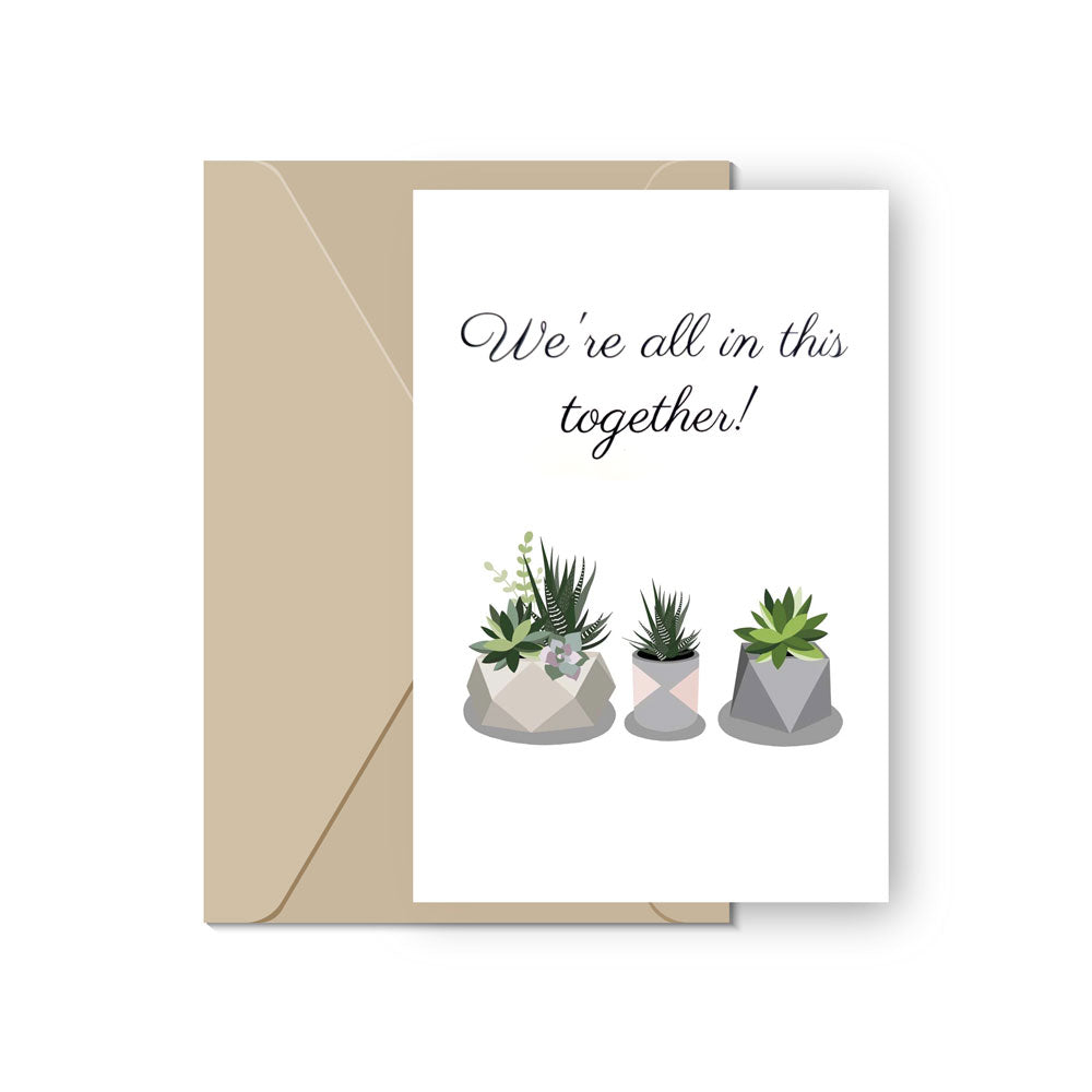Succulent Greeting Card for sale, Succulent Card for Plant Lovers