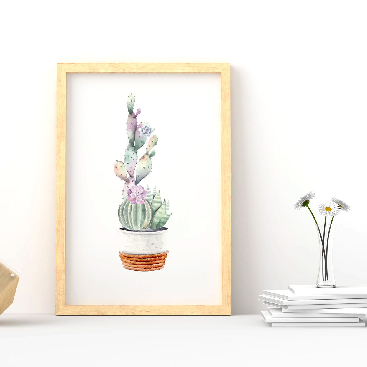 Printable Watercolor Cactus Posters for sale, Succulent Wall Art, Succulent Gift Ideas, Cactus Gifts for sale, Cactus Print Set