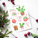 succulent stickers for sale, cactus stickers for sale, succulent craft ideas, succulent gift ideas, cute plant stickers, holiday stickers