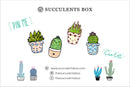 Funny Cartoon Potted Succulents Pin for sale, Cactus in a Pot Pin Badge, Succulent Gift Ideas