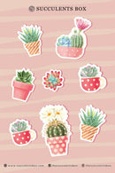 succulent stickers for sale, cactus stickers for sale, succulent craft ideas, succulent gift ideas, cute plant stickers