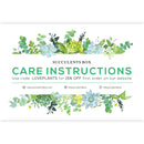 Succulent care card for sale, Succulents care guide, Succulents care instruction, How to care for succulent plants