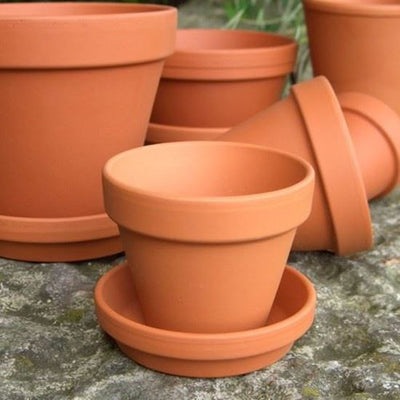 brown pot, flower pot