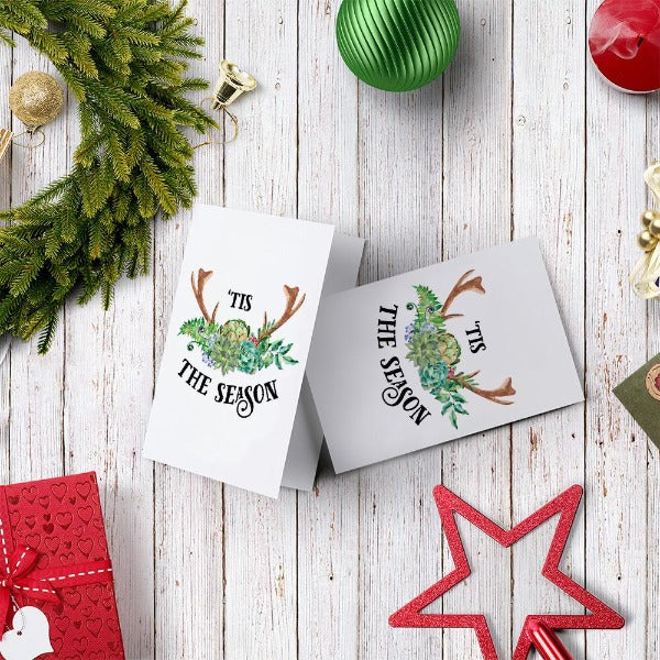 Tis The Season Card Greeting Card Succulents Card Succulents Box
