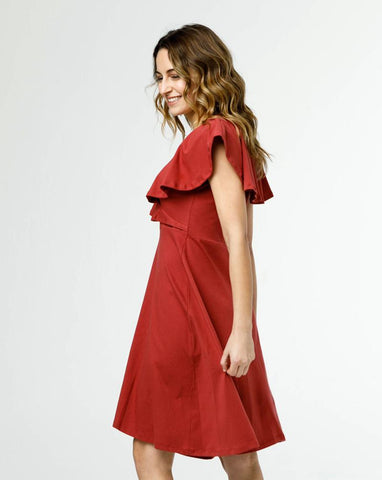 ethically made red dress