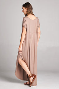 The Deirdre Perfect T-Shirt Maxi Dress in Mocha