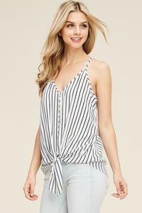 Jessica Striped Button Down Top