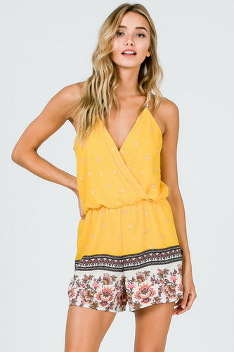 The Melissa Romper in Yellow