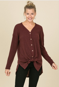 Kristin Burgundy Sweater