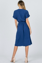 Sharleen Navy Wrap Dress